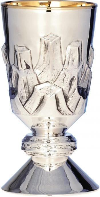 Silver chalice art 6615