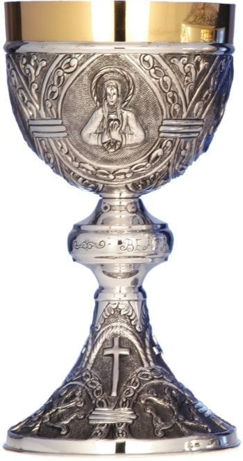 Silver chalice art 6617