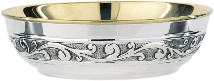 Piatto in argento cesellato art 6282/b