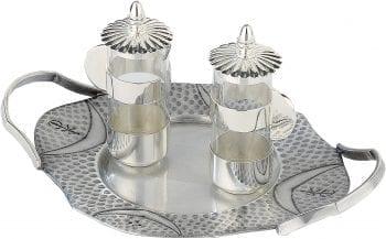 """Ampolline """"Fede"""" Maranatha Lab interamente in ottone finitura argento cesellate a mano con monogramma Chi-Rho"""