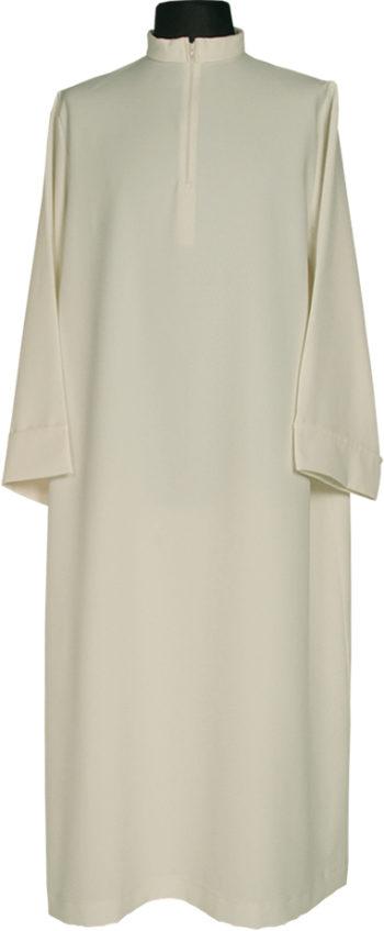 """Camice""""Caserta""""MaranathaLab in tessuto micromonastico dal colore avorio e dalla vestibilità ampia."""
