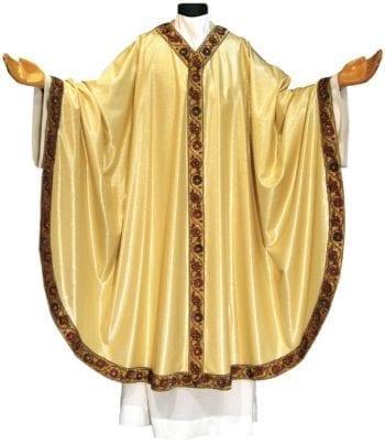Casula bordo ricamato Pietrobon in lana lurex