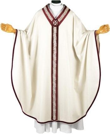 """casula """"Marco"""" dal taglio classico in tessuto lana lurex impreziosita da stolone interamente ricamato a mano"""