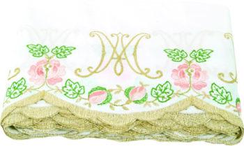 """Bordo """"Maria"""" Maranatha Lab per tovaglia in tessuto misto cotone interamente ricamato"""