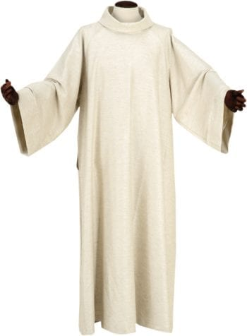 """Camice""""Catania""""MaranathaLab in tessuto lana-cottone, lino e viscosa con una vestibilità ampia."""