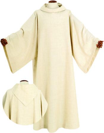 """Camice """"Copenaghen"""" Maranatha Lab benedettino in tessuto misto lana, realizzato a macchina."""
