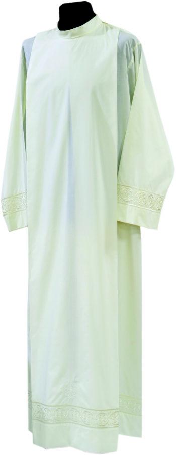 """Camice """"Nicola"""" Maranatha Lab in tessuto misto cotone, decorato con ricamo diretto ai bordi."""