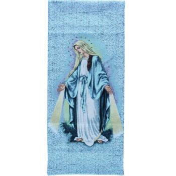 """Coprileggio """"Immacolata"""" tessuto e ricamat interamente realizzati al telaio con effigie della Vergine Immacolata"""