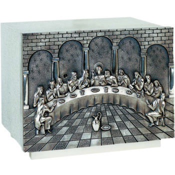 Tabernacle Last Supper silver modern style