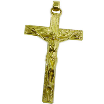 """Maranatha Lab """"Sion"""" Bib Cross made entirely of gilded brass with relief workmanship"""