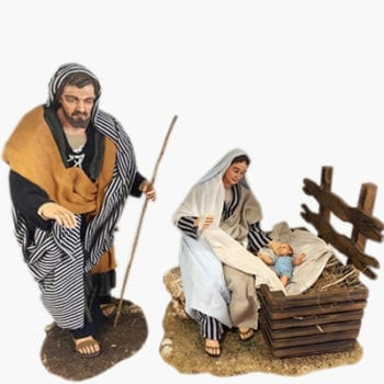 Nativity set and characters in stock