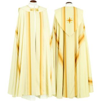 """Piviale """"Galilea"""" Maranatha Lab in tessuto misto seta decorato con ricamo diretto di simbolo cruciforme in oro"""